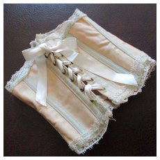 """Ribbed Doll Corset """"Royal Worcester Doll's Corset"""" Label"""