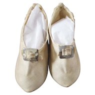 """Polished linen Buckled Doll Shoes 3.5"""""""