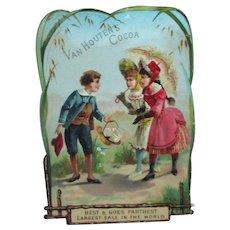 Victorian Van Houten's Cocoa Trade Die Cut Card