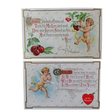 2 Matching Wessler Cupid Cards Pristine Unused
