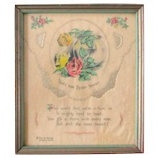 "Buzza Framed Print ""Ain't The Roses Sweet"""