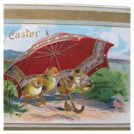 Chicks At The Beach Under Umbrella