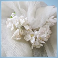 Madame Alexander Wedding Veil Silk Flowers and Buds