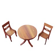 Dollhouse Vt. Maple Wood Dining Set
