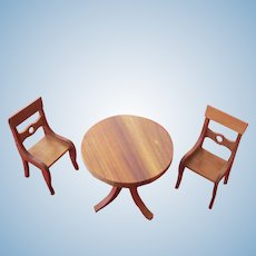 Dollhouse Vt. Maple Wood Dining Set