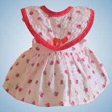 Adorable Vintage Factory Pinafore Dress For Small Doll