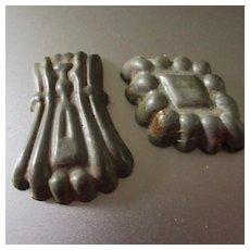 2 Tin Early Dollhouse Molds