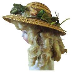 Vintage Bonnet and Lovely Blonde Wig