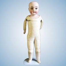 """Antique Kestner 154 dep.5  16"""" Bisque Needs Eye Lovely Face A+ Kid Body"""