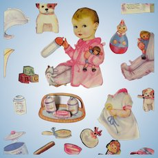 Original 1930's Patsy Baby Paper Dolls With Her Dolls For Projects & Display