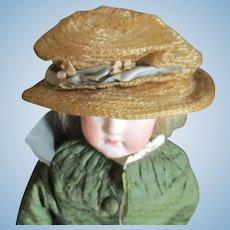 Antique Horsehair Flowered Bonnet