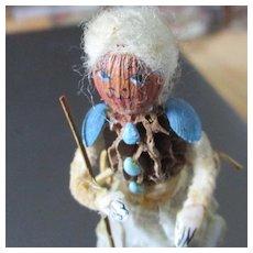 "Wonderful  Very Rare Zella Layton Nut Doll 2.75"""