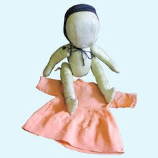 Oil Cloth Amish Doll Original Dress Muslin Bonnet