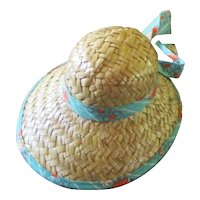 Darling Straw Hat For Smaller Doll