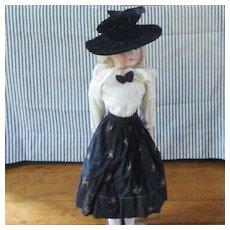 Lovely Antique Bonnet Blouse & Full Skirt
