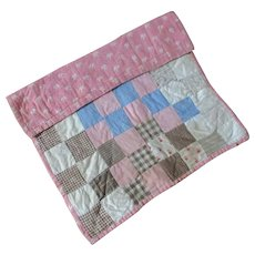Smaller Dolly  Gingham Calico Quilt Fully Finished