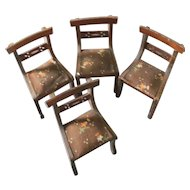 4 German 1920's  Delicate Empire Doll Chairs  Padded Seats