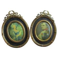 Matching Set Jeweled Frames Dollhouse Marie Antoinette Napoleon