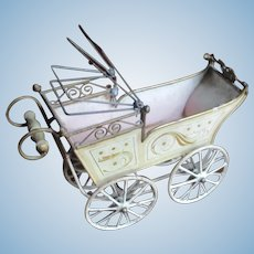 Antique Marklin  German Miniature Doll Carriage
