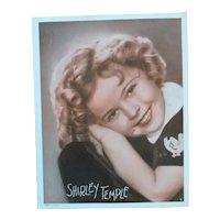 Darling Hand Colored Studio Vintage Photo Shirley Temple