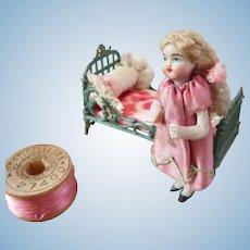 Gorgeous Lilliputian French Bebe Dans le Chambre  Original Factory Dress