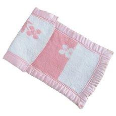 Factory Flannel Doll Blanket Satin Edges