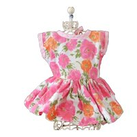 Pretty Flower Factory Dress For Smaller Walker Doll