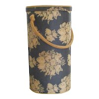 Vintage Bentwood Yarn Holder With Lovely Chintz Covering