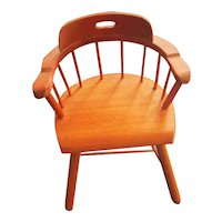 1950's Kimport Handmade Captains Doll Chair