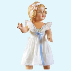Adorable Pinafore Sun Dress For Large Doll With Label