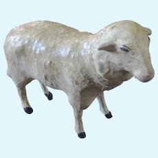 "German Paper Mache Sheep 3.75"" Tall"