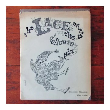 """RARE 1956 Brooklyn Museum """"Lace With A Delicate Air"""" Edgar Parker Illustrations"""