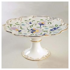 Coalport England Compote or Cake/Dessert Stand Pageant Design
