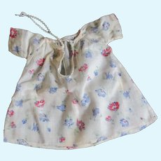 Vintage Factory Gown Rabbit Print for Dy-Dee And Other Baby Dolls