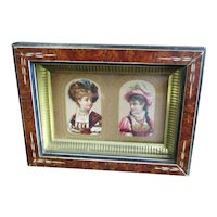 Eastlake Frame With Victorian Die Cuts Beautiful Women