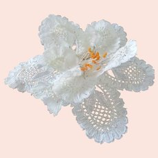 Beautiful Old Lace Wired Flower For Hair, Wrist... Wedding