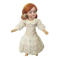 Darling Old Lace Drop Waist Dress for Small Doll