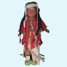 Madame Hendren Composition Character Doll Native American