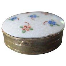 Pretty Petite Guilloche Enamel Pill Box