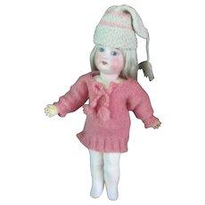Pink Knit Long Sweater Stocking Cap Long Ribbed Socks