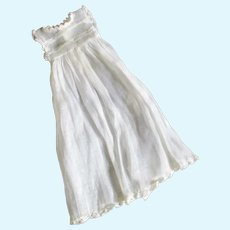 Pretty Organdy & Lace Ideal Label Long Gown For Smaller Doll