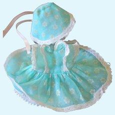 Organdy &Lace Factory Dress & Bonnet For Ginette, Little Genius  Etc