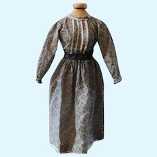 1880's Calico Dress For China Doll