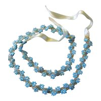 Art Deco Beaded Flower Necklace