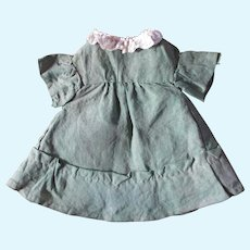 Old Handmade Linen Dress For Small China Doll