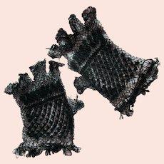 Civil War Era Lace Gloves Mid 1800's