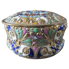 French Enameled Champleve Pill Small Box