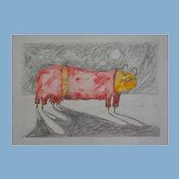Bovine in Pink