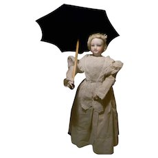 Nice French Fashion Silk Parasol, Working Condition,  Nice!