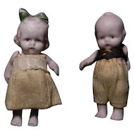 Little All Bisque Pair of Boy & Girl